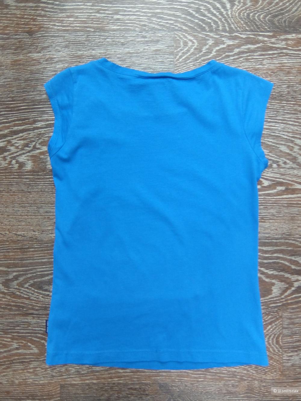 Футболка Guess синяя с лентой (р. RUS 42-44). Новая.