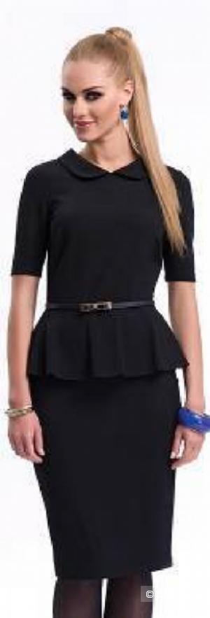Платье с баской с  ZAPS ,р S