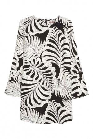 Платье/туника, H&М, черно-белое, M