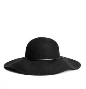 Шерстяная фетровая шляпа H&M, чёрная, М