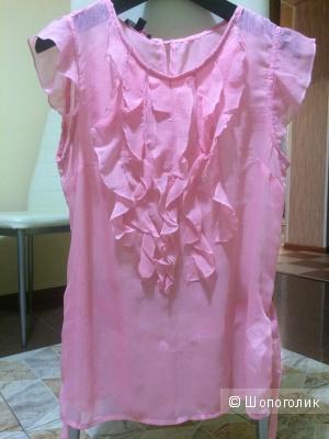 Блуза нежно-розового цвета , размер m