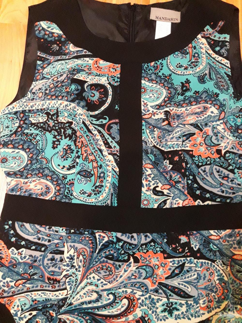 Платье ,с принтом, без рукавов, MANDARIN,38 eur