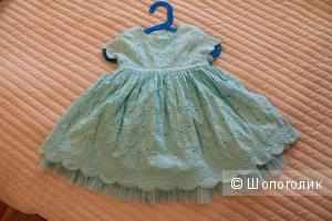 Нежное платье для малышки 12-18 мес для лета MarkandSpenser