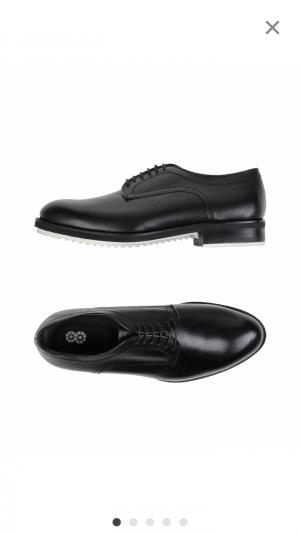 """Мужские туфли бренда """"8"""" 42 размера черные"""