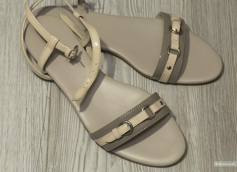 Attilio Giusti Leombruni/AGL - сандалии бежевые, женские, 41 размер.