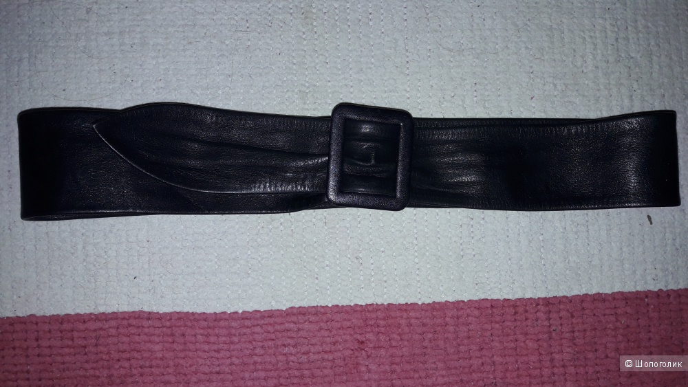 Пояс  кожаный длина 97 см