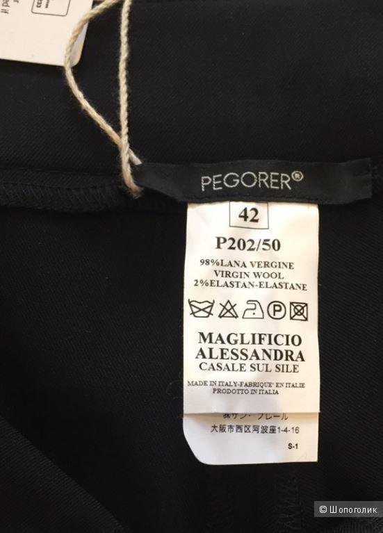 PEGORER  брюки шерстяные р.42 ит