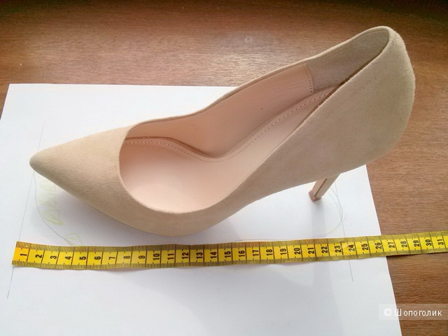 Туфли-лодочки замшевые, размер US 7