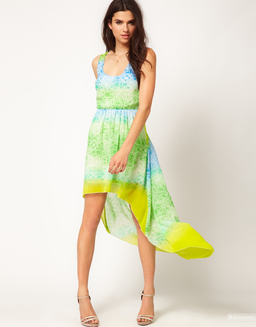 Lipsy Watercolor Ombre Dress