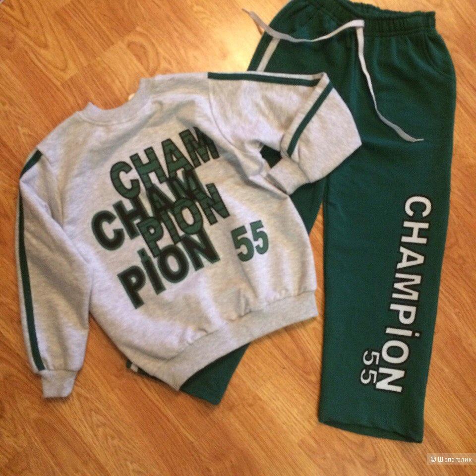 Новый детский спортивный костюм, 116-122см