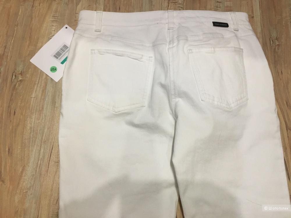 Укороченные джинсы DOLCE & GABBANA, 46 (Российский размер) дизайнер:44 (IT) Белый
