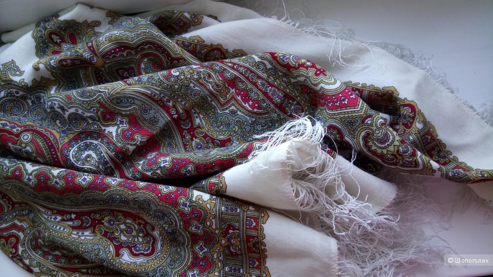 Павлопосадский платок шерсть