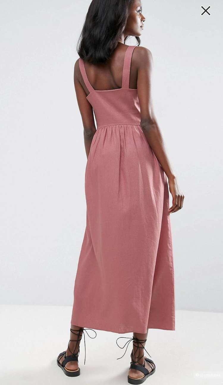 ASOS Linen Maxi Dress UK8