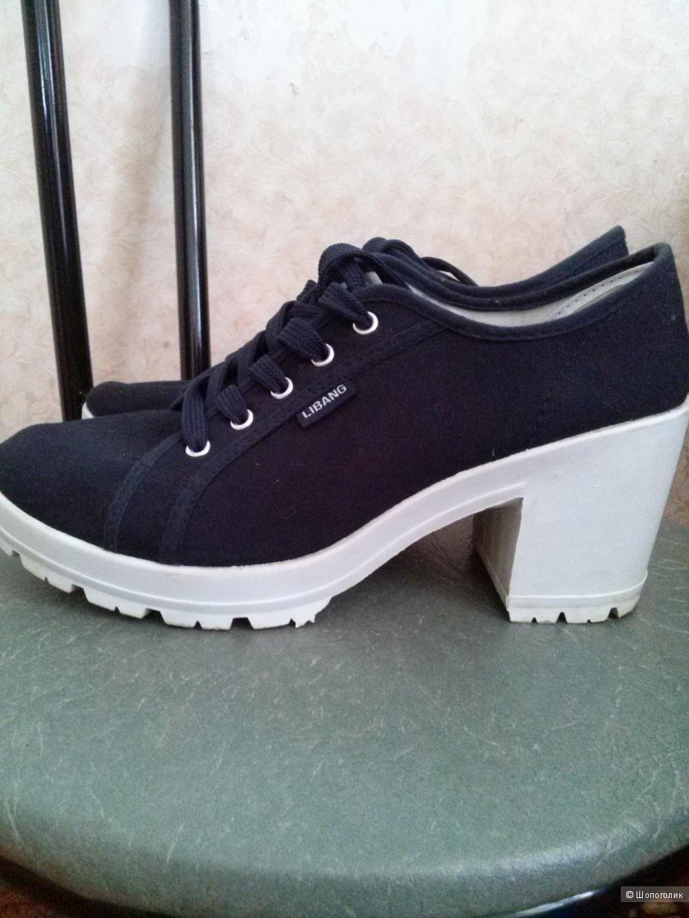 Текстильные ботинки 39 р-р.