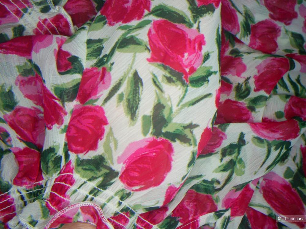 Шифоновая жатая блузка от K&D р 46-48-50.