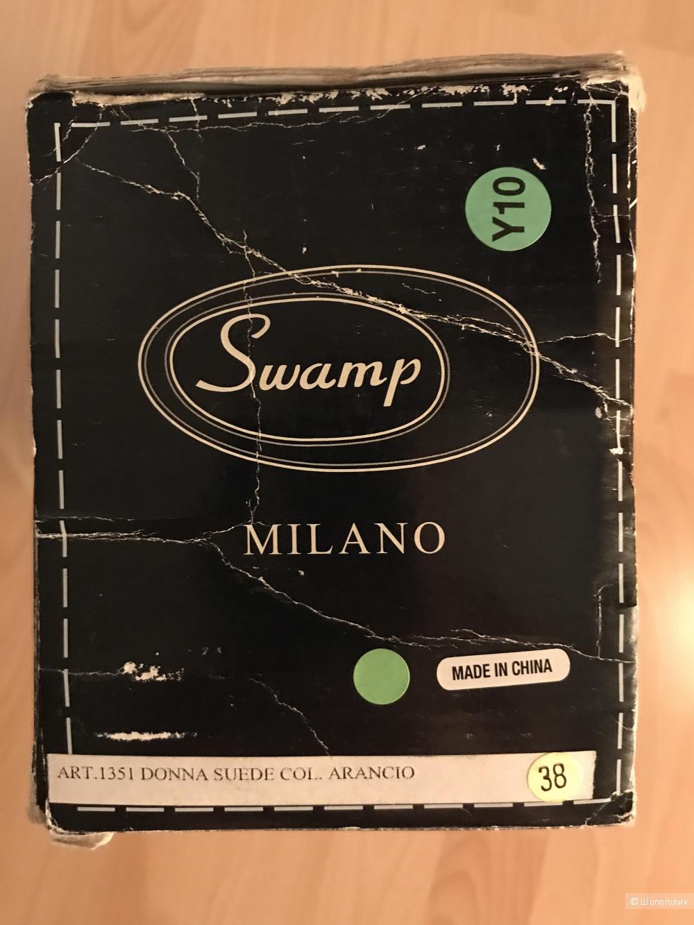 Новые замшевые мокасины SWAMP 38 р