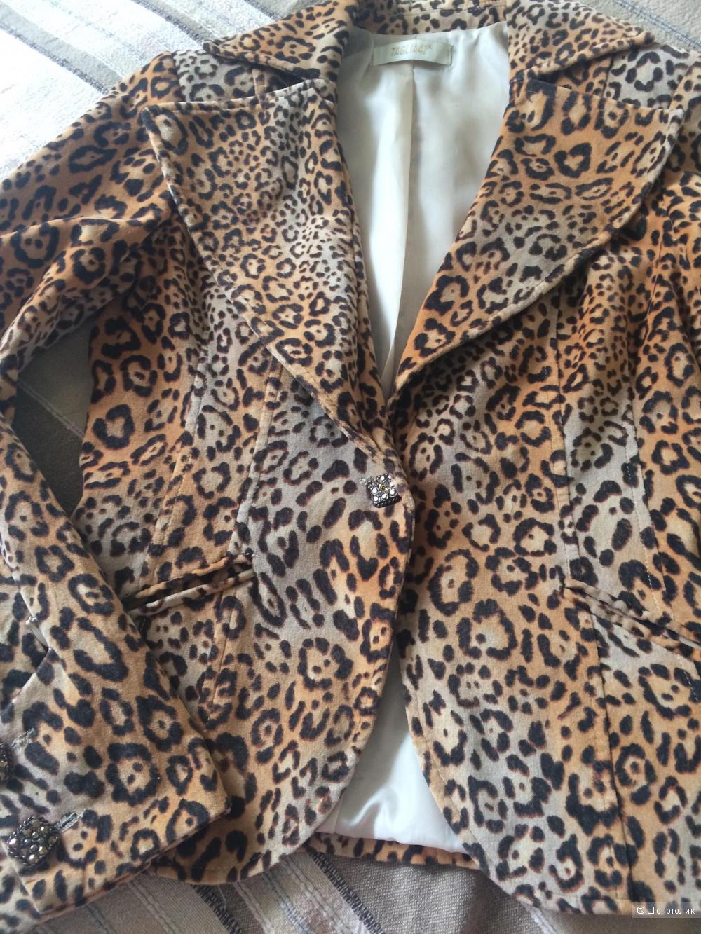 Жакет с леопардовым принтом, размер IT 42