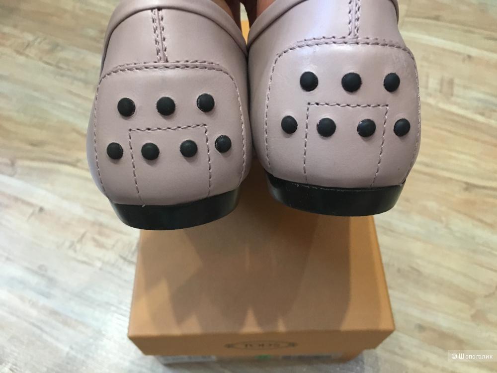 Балетки TOD'S, размер 37.5 (Европейский Размер). Светло-розовый