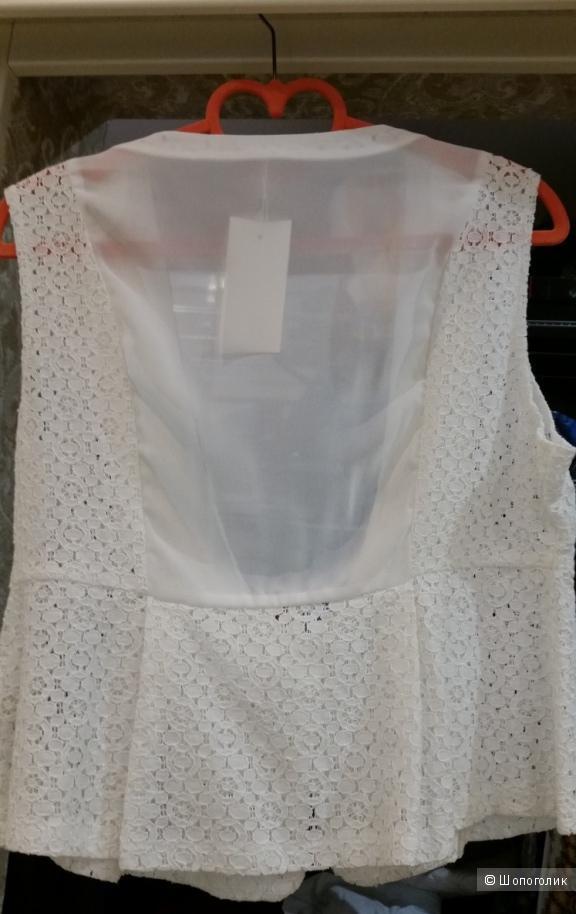 Белый жилет 44 размер