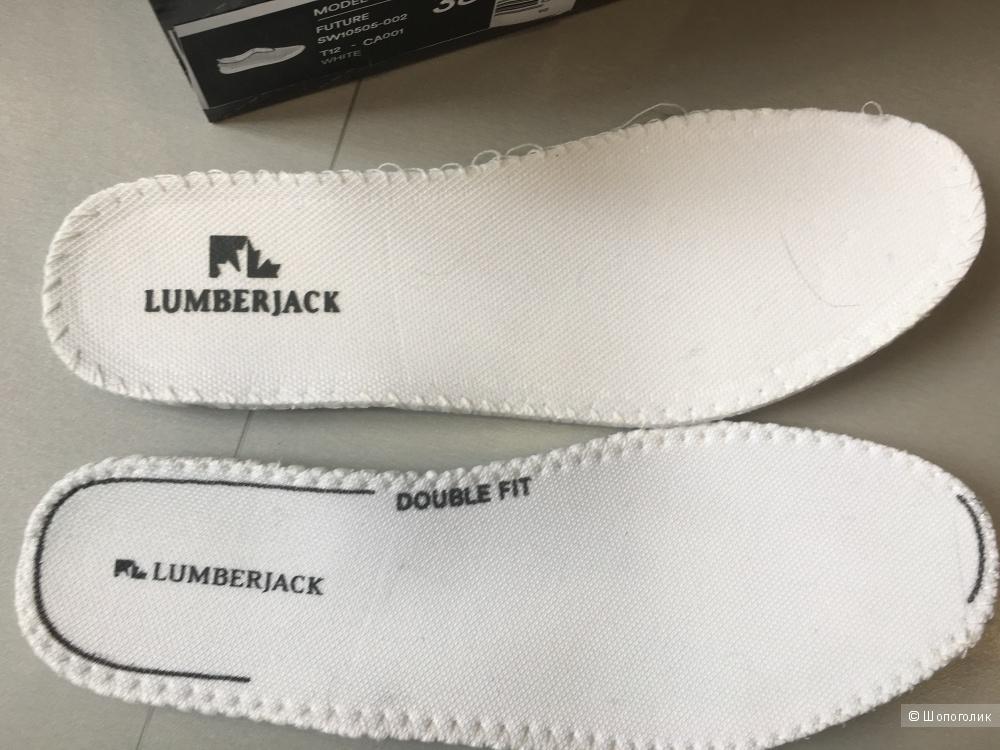 Кроссовки со стразами LUMBERJACK, 38 (Европейский Размер). Слоновая кость