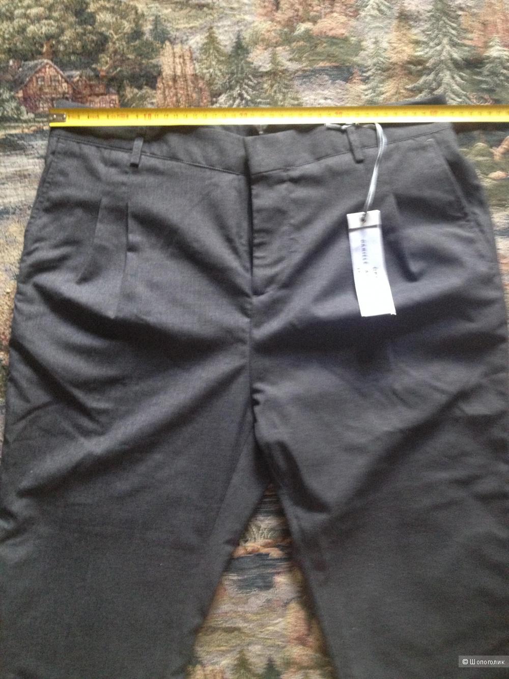 Зауженные брюки GREY DANIELE ALESSANDRINI Серый -46 (IT) -48 (Российский размер)