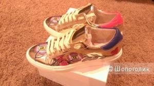 Кроссы итальянские золотые 38 размер