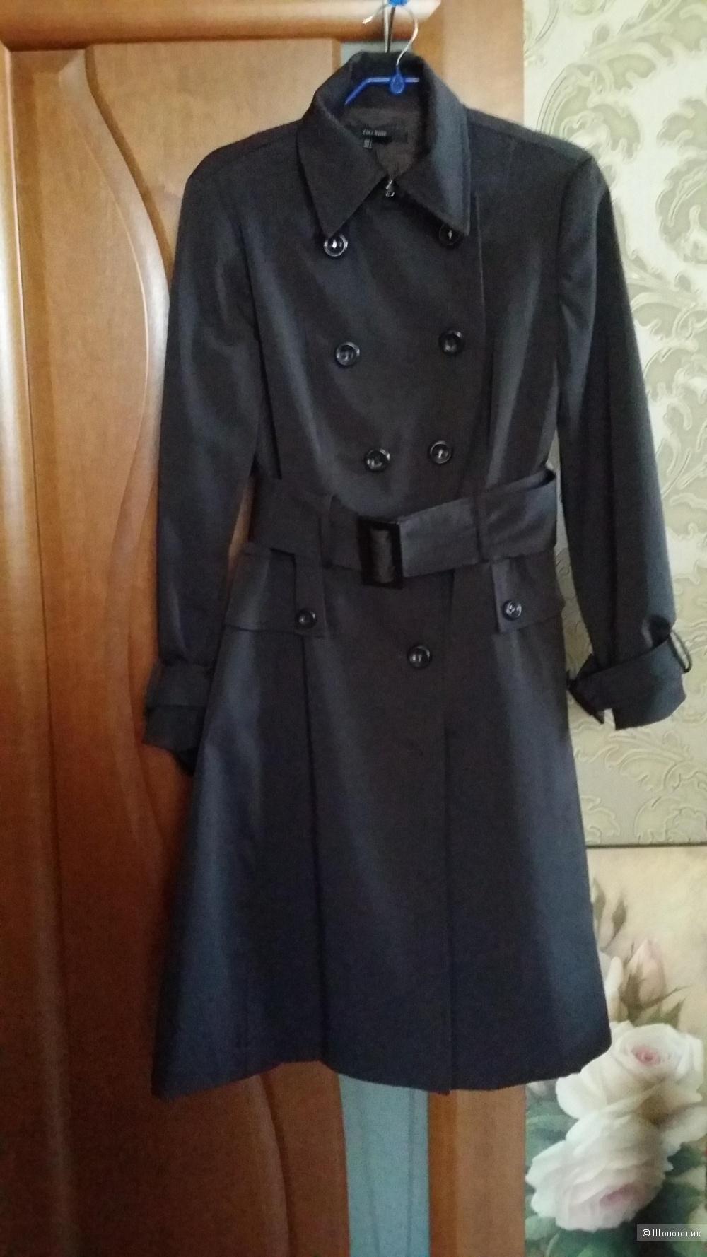 Плащ-пальто Zara Basic шоколадного цвета 46-48 размера