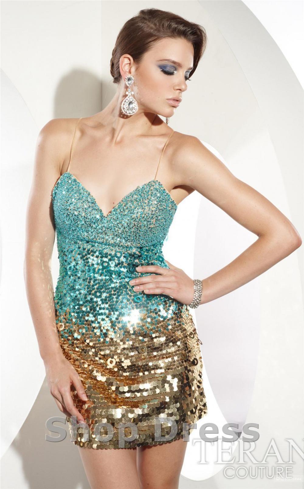 Очень красивое брендовое платье TERANI COUTURE.