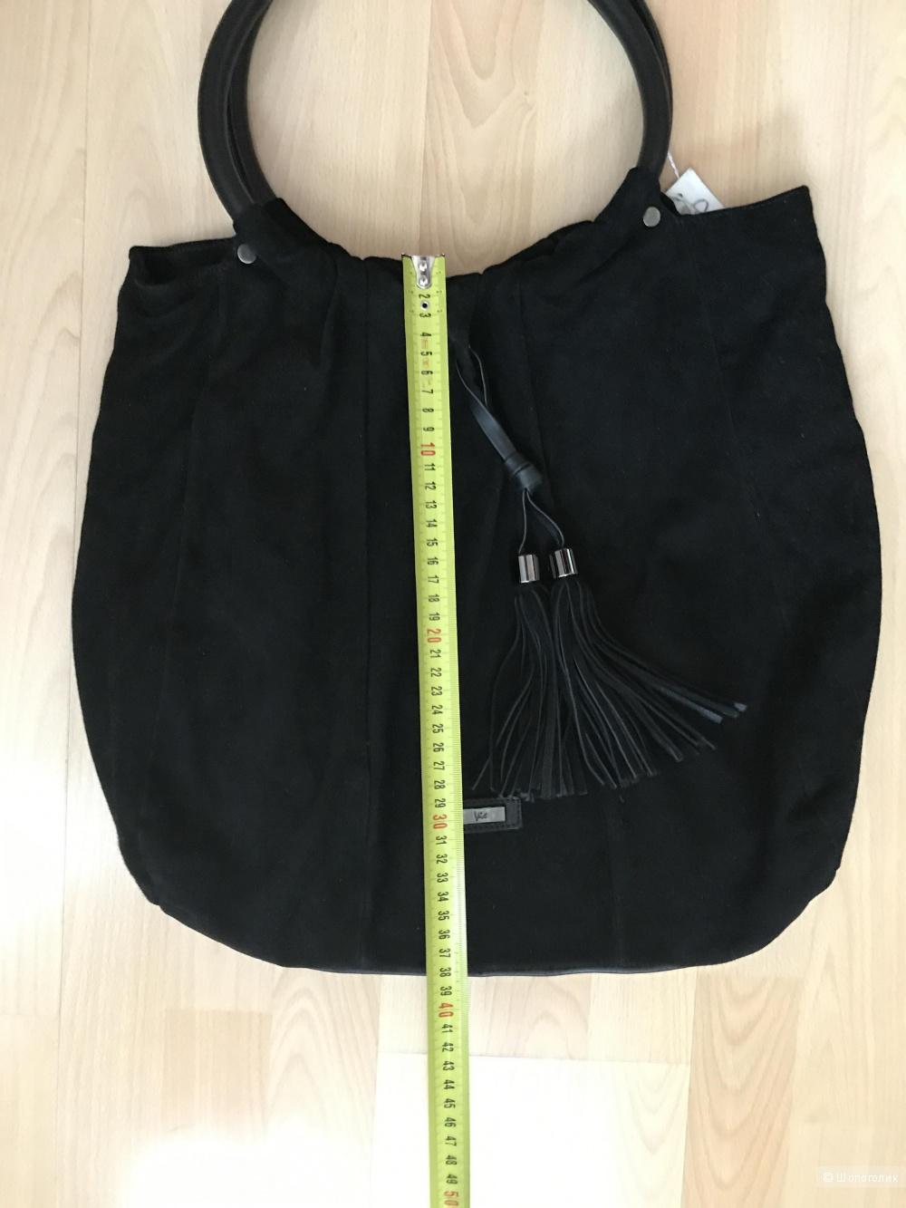 Шикарная большая замшевая сумка VIC