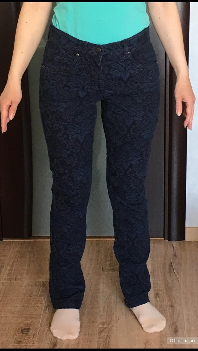 Жаккардовые джинсы Alba Moda, 34 нем размер, б/у