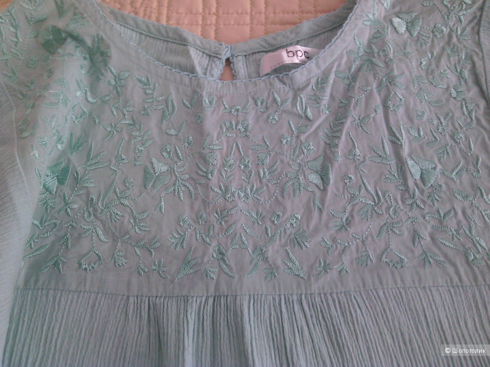 Летняя хлопковая блузка-туника