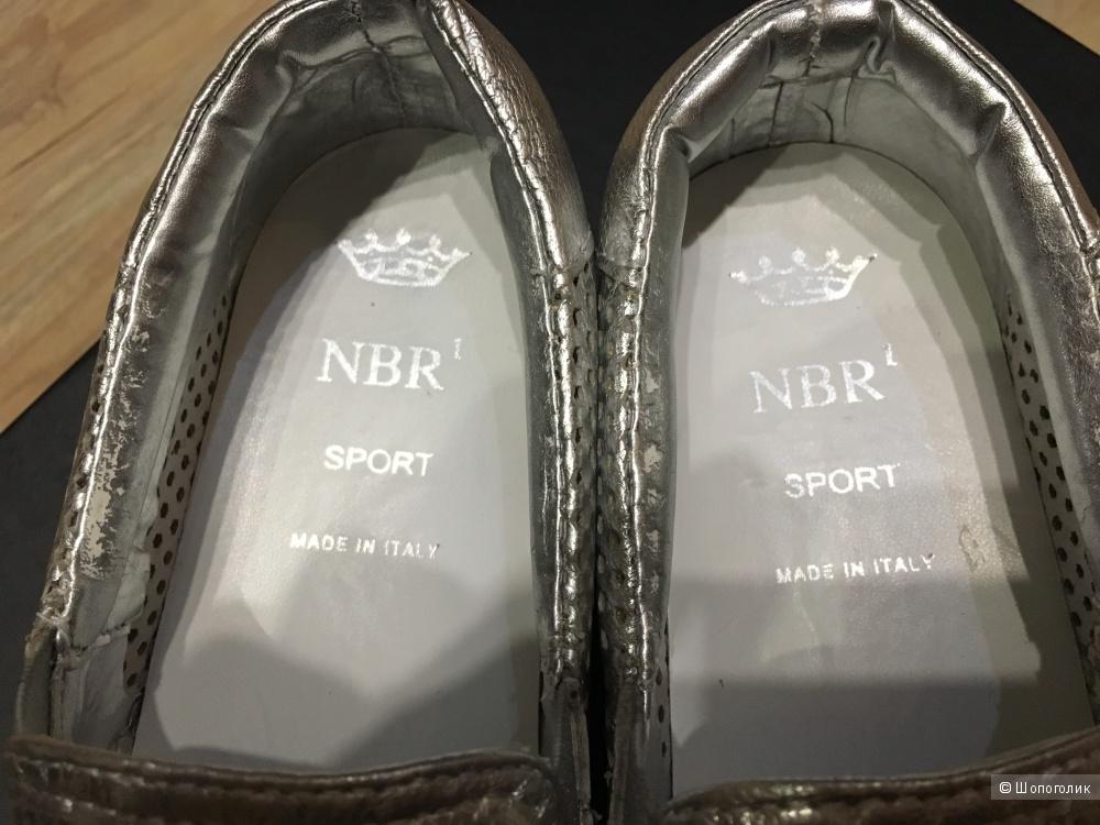 Слипоны NBR¹, 37 (Европейский Размер), по стельке 24,5 см. Серебристый