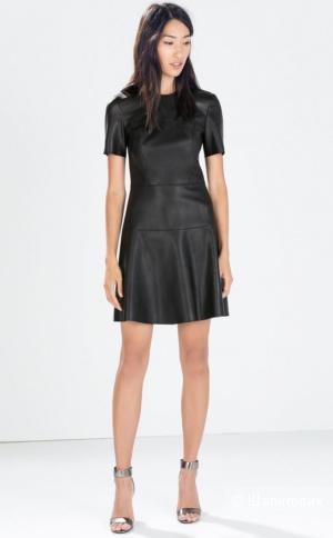 Платье из экокожи Zara S
