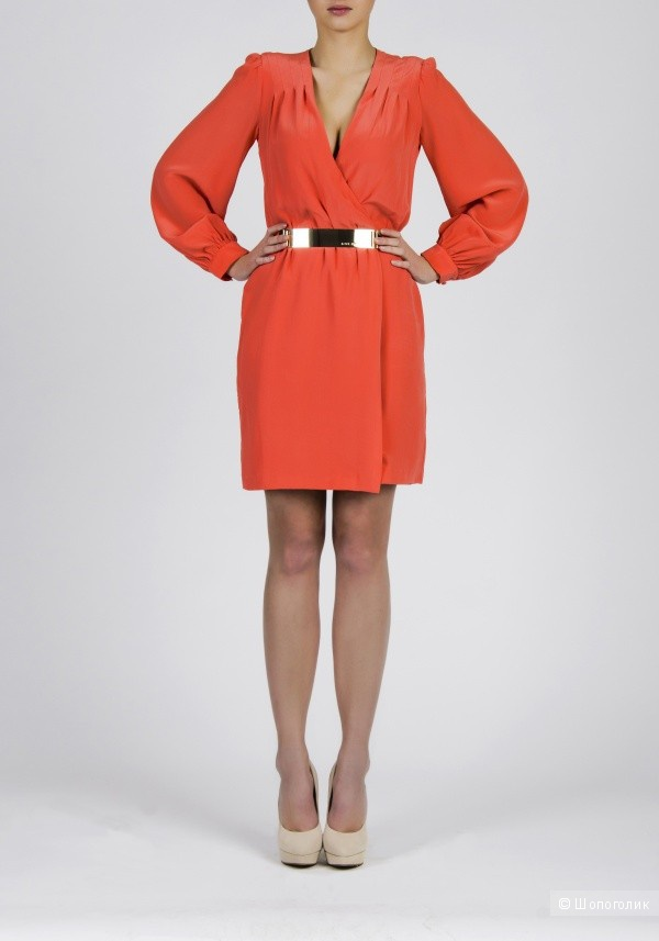Шелковое платье с запахом  LOVE REPUBLIC новое 46 разм.