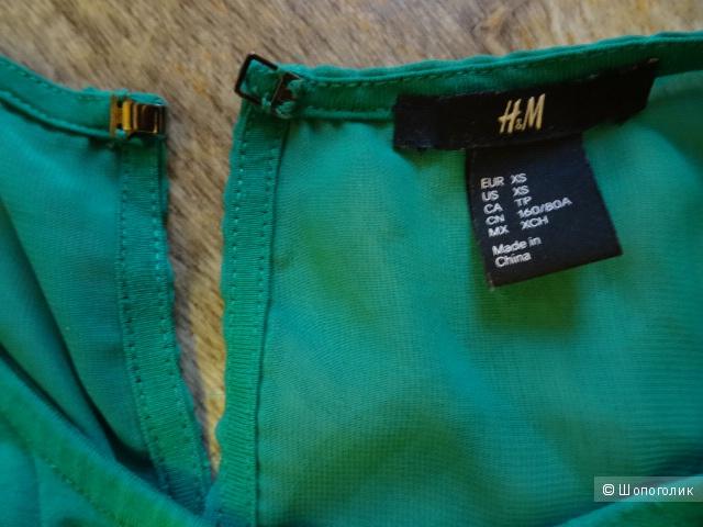 Блуза с открытыми плечами H&M, размер 42-44, б/у