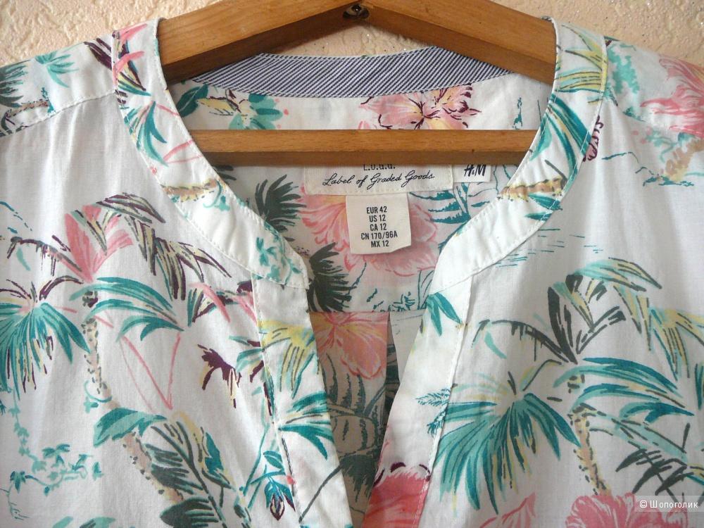 Блузка прямого кроя H&M р48