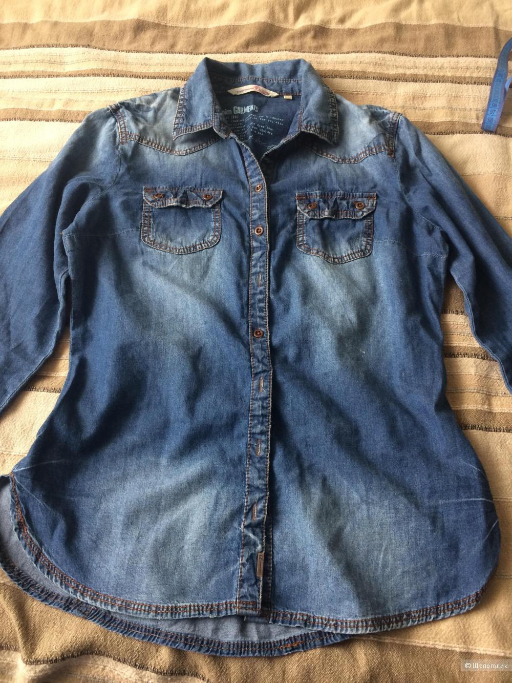Джинсовая рубашка Tom Tailor, размер S