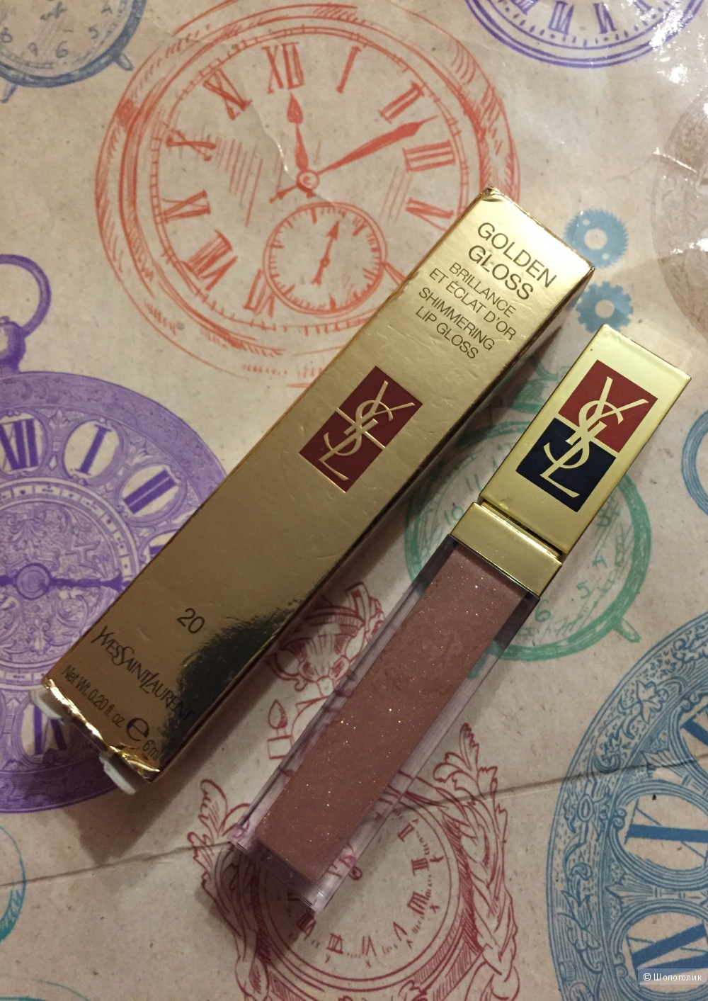 YSL блеск для губ Golden Gloss Shimmering Lip Gloss
