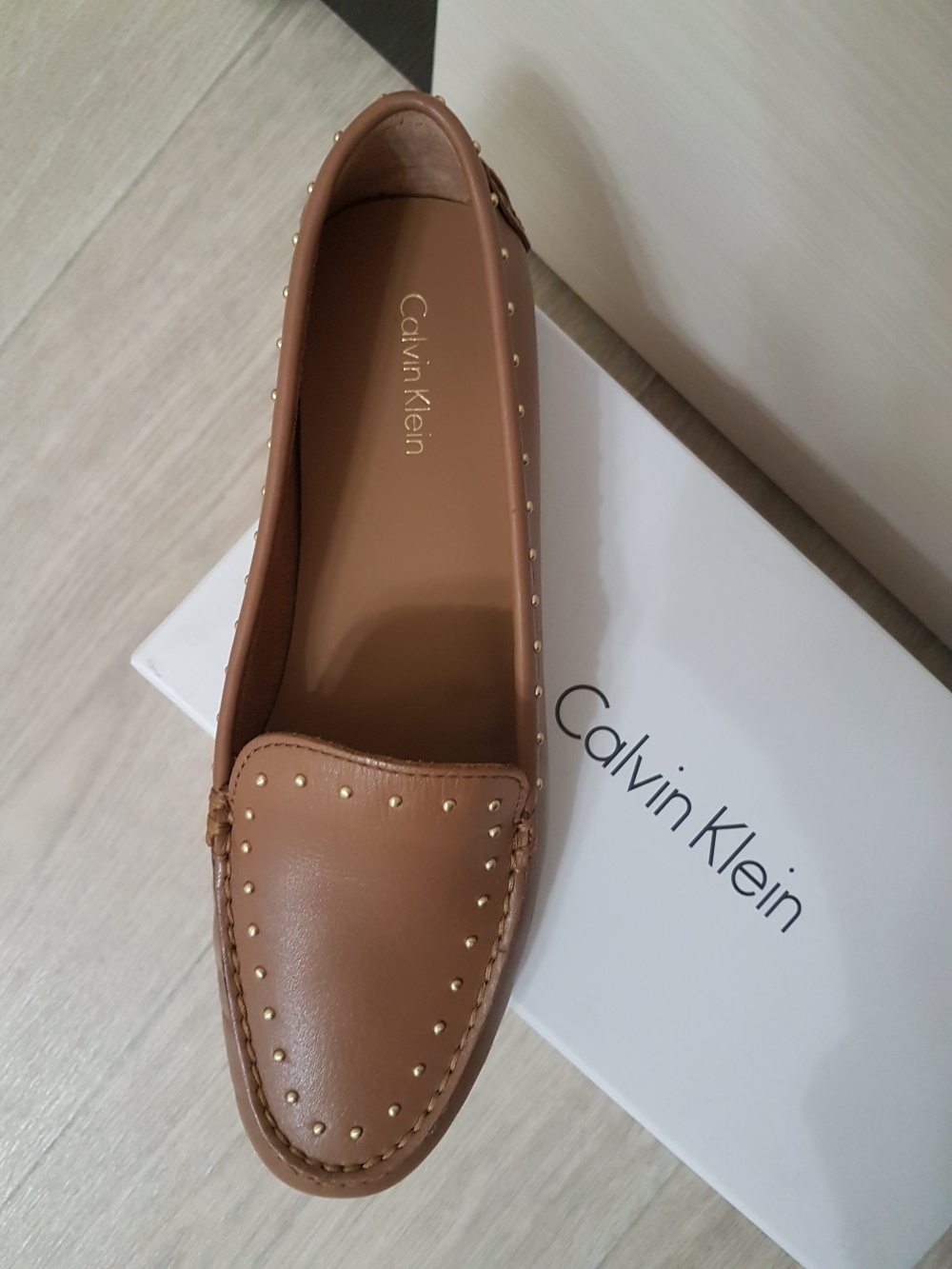 Кожаные мокасины Calvin Klein, размер 39 (8.5 US)