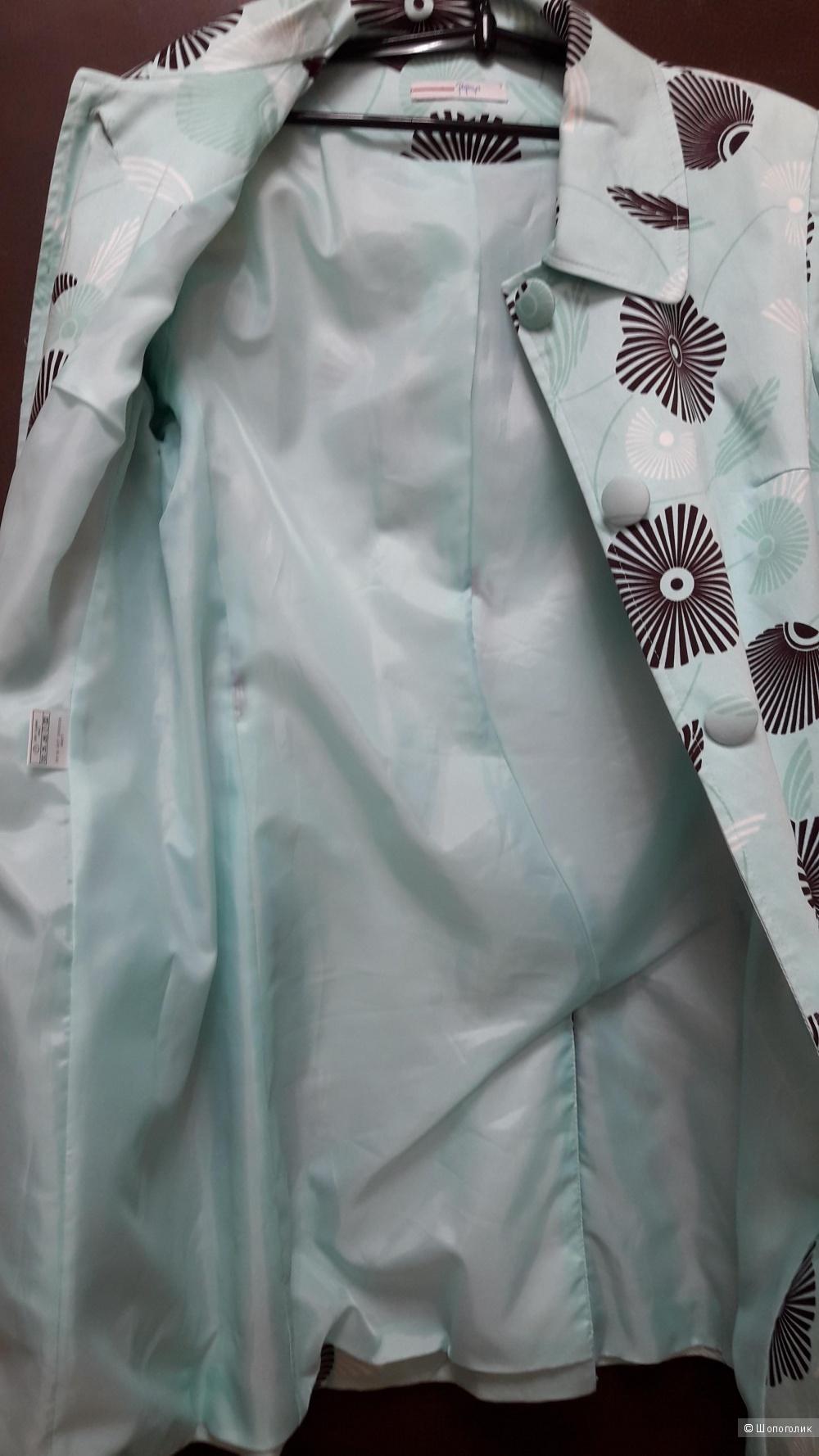 Летнее хлопковое пальто Papaya размер 48