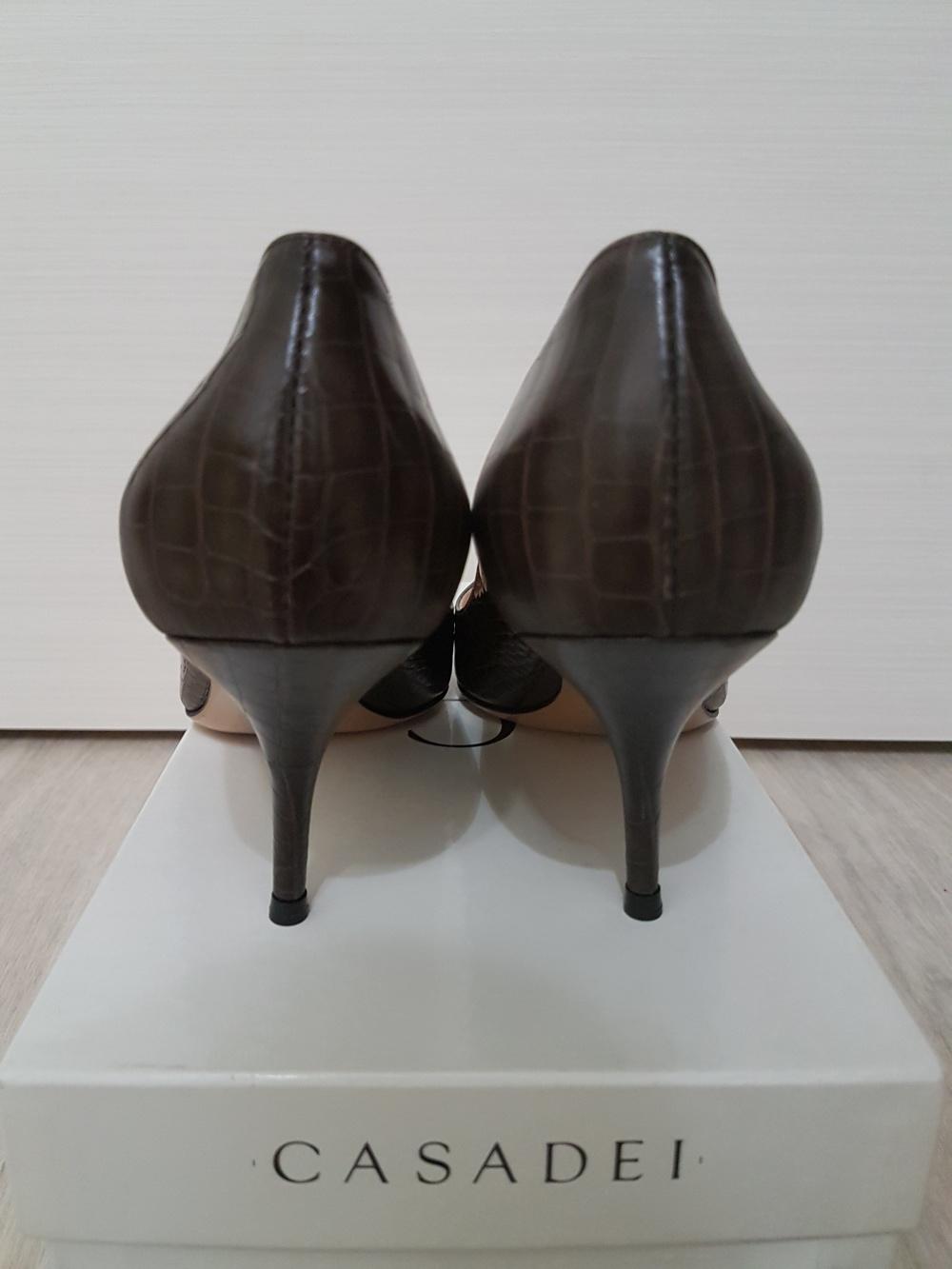 Туфли Casadei под крокодила, размер 38-39