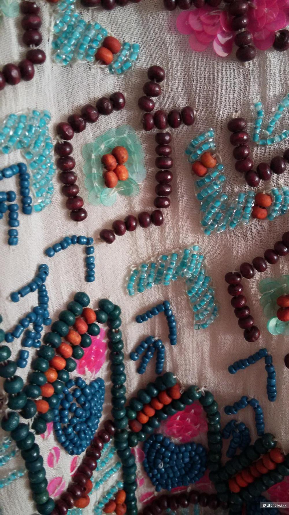 FRENCH CONNECTION красивое платье расшитое бусинами и бисером.Новое .Оригинал. р. 44