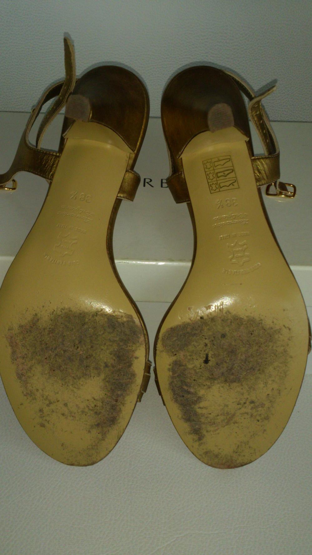 Босоножки золотые LORBAC, размер 381/2, Италия