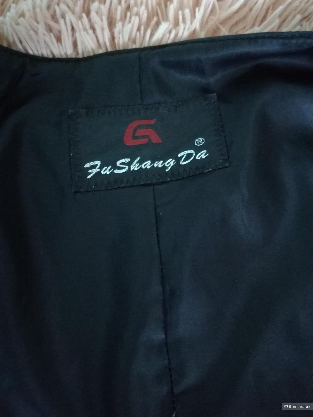 Кожаная куртка-пиджак 44-46 р.