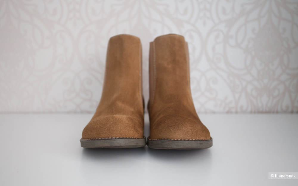 Замшевые ботинки челси 37-37,5 размер