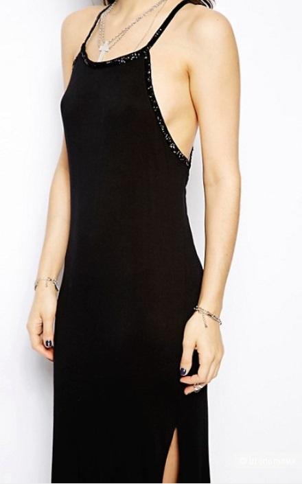 Макси платье с бисером religion L