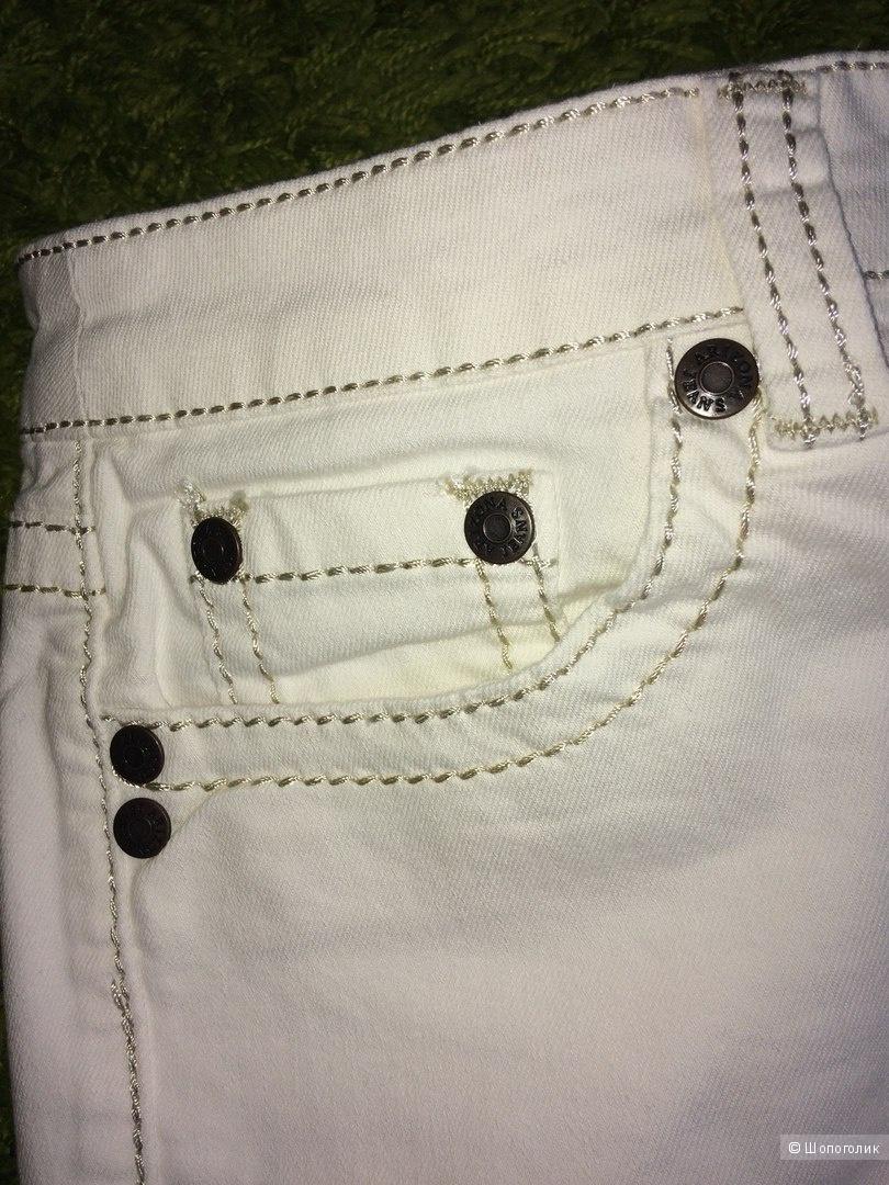 Джинсы кремово белые хлопковые Arizona 48-50 размер