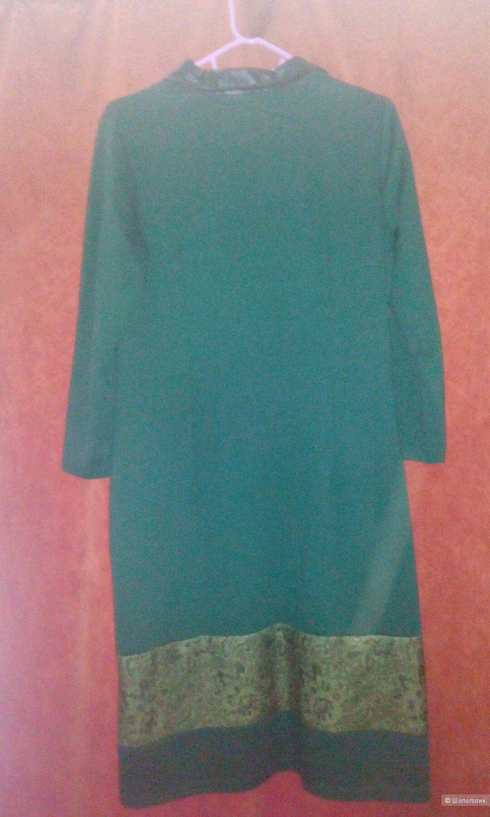 Платье тёмно-зелёное,размер М