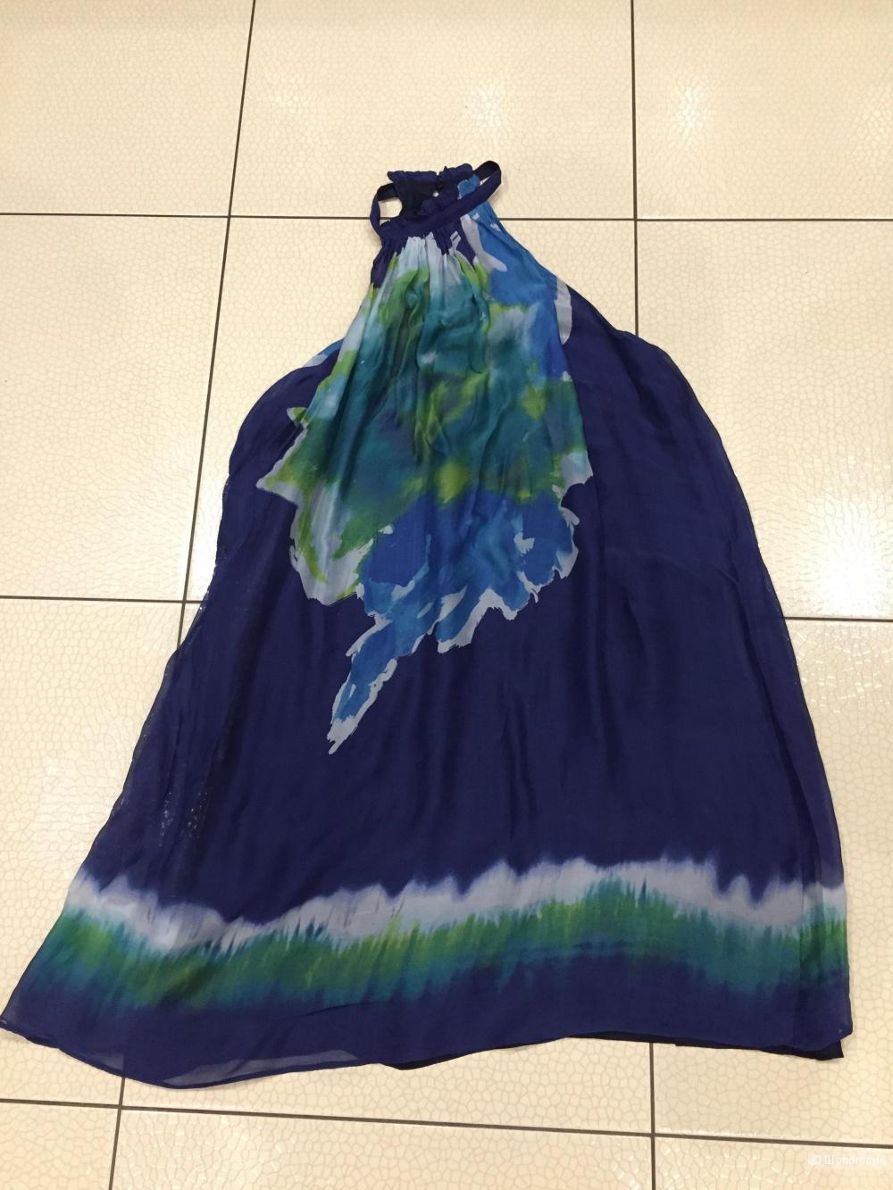 Шелковое платье Zara размера М