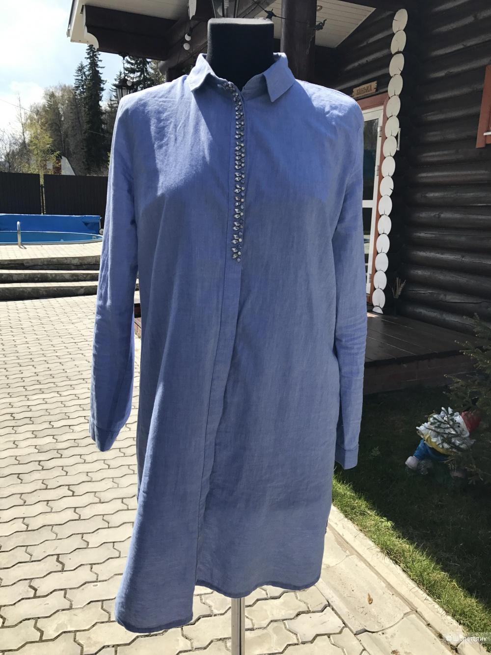 Стильная рубашка -платье р-46-48